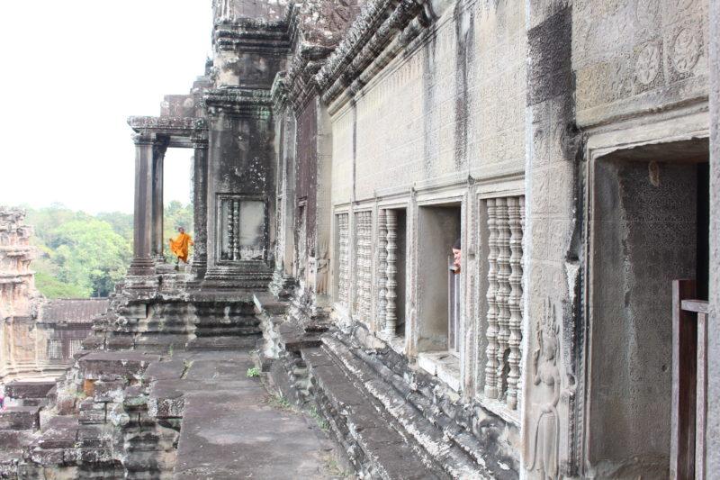 Marije (zie je mij?) in Angkor Wat