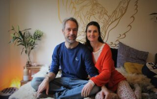 Jeroen en Marije tijdens online programma Gloed