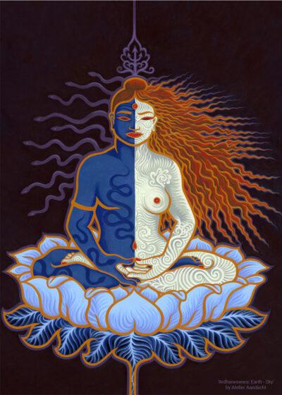 Ardhaneswara (Shakti en Shiva in één lichaam) door Atelier Aandacht