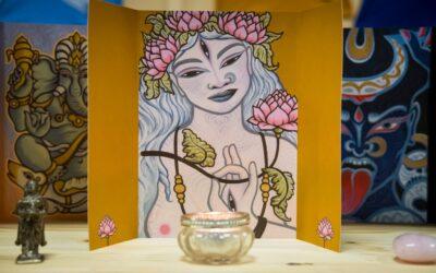 Witte Tara altaar kaart - Atelier Aandacht